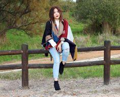 blanket cape, blanket wrap, winter fashion,