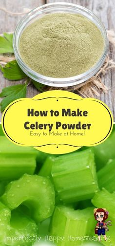 Powder How to Make It at Home Stretch Your Harvest How to Make Celery Powder at Home - a great way to preserve and stretch your garden harvest.How to Make Celery Powder at Home - a great way to preserve and stretch your garden harvest. Homemade Spices, Homemade Seasonings, Do It Yourself Food, Tandoori Masala, Dehydrated Food, Dehydrator Recipes, Seasoning Mixes, Spice Mixes, Spice Blends