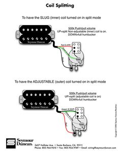 97 best pickup schematics images on pinterest guitar building inner or outer coil split wiring diagram cheapraybanclubmaster Image collections
