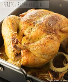 Roasted Chicken with Lemon and Garlic... YUM!