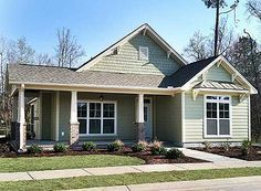 Plan 3 Bed Cottage with Bonus and Alley Garage 1487 sq ft Longg and skinny house good use of space