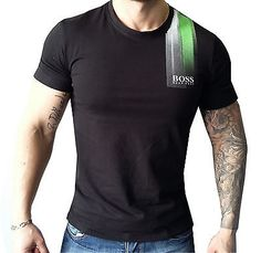 Hugo Boss Men's T-Shirt 100% Cotton. Size M-L-XL-2XL-3XL