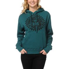 Rooted in native style, stay comfortable and warm in the Zumiez Exclusive Aztec Stencil hoodie from Obey Clothing.