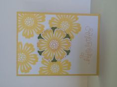 Mixed bunch stampin up with curly verse on daffodil delight cardstock