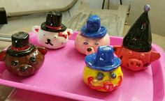 Pinchpot animals with lids
