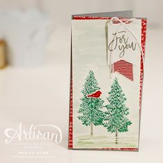 Fall and Winter scene cards using the Thoughtful Branches Bundle from Stampin' Up! by Marisa Gunn. Stampin Up Christmas, Christmas Cards To Make, Noel Christmas, Holiday Cards, Christmas Crafts, Simple Christmas, Diy Cards Crafts, Paper Crafts, Festive Crafts