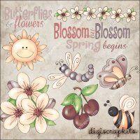 Blossom by Blossom 1 Clip Art Set