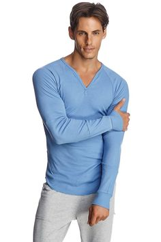 Thermal V-Neck Long Sleeve (Ice Blue)