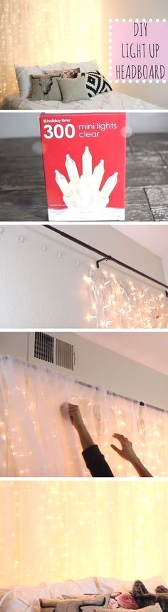 Try these easy DIY dorm room decor ideas to decorate your dorm! These DIY tips, tricks and hacks are cheap and easy to do to liven up your dorm room! Diy Tumblr, Tumblr Lamp, Ideas Tumblr, Ideias Diy, My New Room, Sweet Home, Bedroom Romantic, Trendy Bedroom, Bedroom Girls