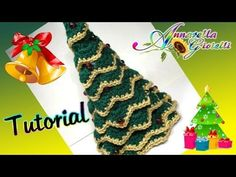 ▶ Tutorial Albero di Natale all'uncinetto SENZA punto coccodrillo | How to crochet a Christmas Tree - YouTube