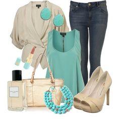 turquoise and khaki