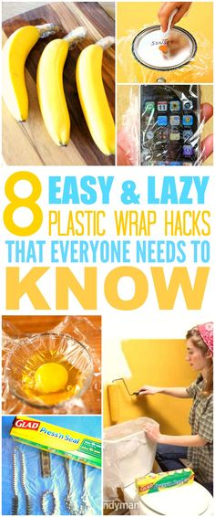 These 8 life changing plastic wrap hacks are THE BEST! I'm so glad I found these AWESOME tips! Now I can save a ton of money! Definitely pinning for later!