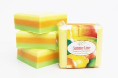 "Natural Handmade Soap ""Summer Lime"" (scent of Lime, Mandarin, Oranges, Key Lime & Basil)"