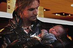 AC IV - Edward and D'Elenn @ Animecon 2014 by RBF-productions-NL on deviantART - Because Edward Kenway is holding a baby.