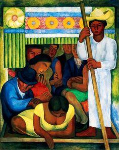 Diego Rivera. The Flowered Canoe.