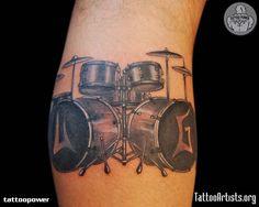 drum tattoos for men