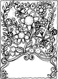 doodle flowers.