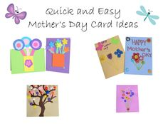 Quick and easy mother's Day card ideas