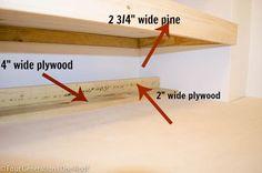 DIY floating shelves laundry room