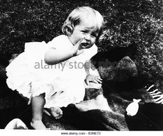 Princess Diana as a young child on her first birthday July 1962 - Stock Image