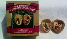 Vintage Hallmark Ornament  In a Nutshell  1987 by JylMilnerCreates, $15.00
