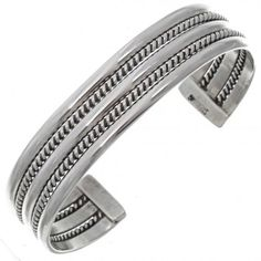 Navajo Twist Wire Sterling Cuff 12720  | Alltribes