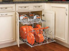 "Rev-A-Shelf 5CW2 Cookware Organizer - Two-Tier - 21"" Width - Chrome 