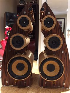 THE ELEMENTS........major improvement to the Courbe Speakers....constructed of PVC Pipe..very very low resonance..