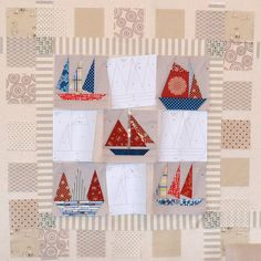 Old Sailboat Quilt by AdrianneNZ, via Flickr