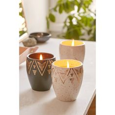Desert Ceramic Candle ($15) ❤ liked on Polyvore featuring home, home decor, candles & candleholders, white tangerine, scented candles, white home decor, orange candles, white candles and jasmine vanilla candle