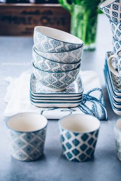 Ib Laursen: Casablanca in Blue, dishware review / http://prettybaked.pl / http://facebook.com/prettybakedpl