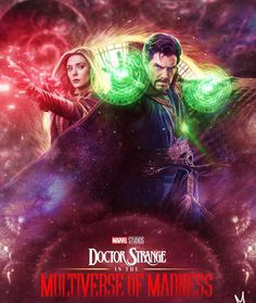 Strange and the Multiverse of Madness After Infinity War, I really like Dr. Strange's character and the Scarlet Witch is going to be a main character in it (She is one my favorite Avengers) plus she and Dr. Strange have cool mystical powers. Marvel Art, Marvel Heroes, Marvel Characters, Marvel Movies, Marvel Avengers, Marvel Images, Dr Strange, Doctor Strange Poster, Doctor Strange Avengers