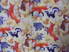 Hide and Seek,Beautiful Animal cotton fabric ,South Sea, 1 Yard by susiesfabrics on Etsy