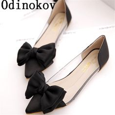 Cheap women flats, Buy Quality women flats shoes directly from China flats shoes Suppliers: Odinokov Spring Women Flats Shoes New 2017 Shoes Woman Bowtie Pointed Toe Casual  Ballet Ballerina Ballet Flat Sandals