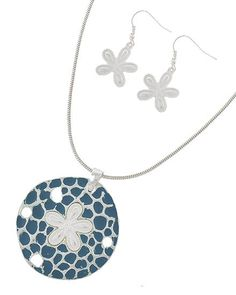 Sea Life Earring, Pendant and Necklace Set