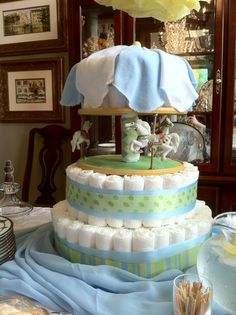 Carousel Diaper Cake designed by CrawleyCreations