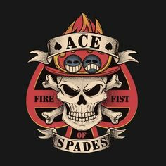 ace one piece logo Ace Tattoo One Piece, Ace One Piece, One Piece New World, One Piece Logo, One Piece Crew, One Piece Luffy, One Piece Manga, One Piece Drawing, Ace Of Spades Tattoo