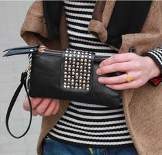 Studded Clutch - Three colors available - Save 78% only $19