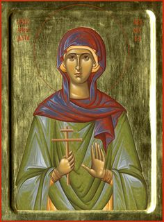 Petka of Serbia by Aleksandra Spasic - October 14 Byzantine Icons, Byzantine Art, Religious Icons, Religious Art, Love Is Comic, St P, Russian Orthodox, October 14, Orthodox Icons