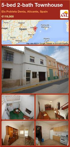 5-bed 2-bath Townhouse in Els Poblets Denia, Alicante, Spain ►€119,000 #PropertyForSaleInSpain