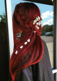 Red Mermaid Braids | 100 Ridiculously Awesome Braided Hairstyles #red #hair #redhead #braid