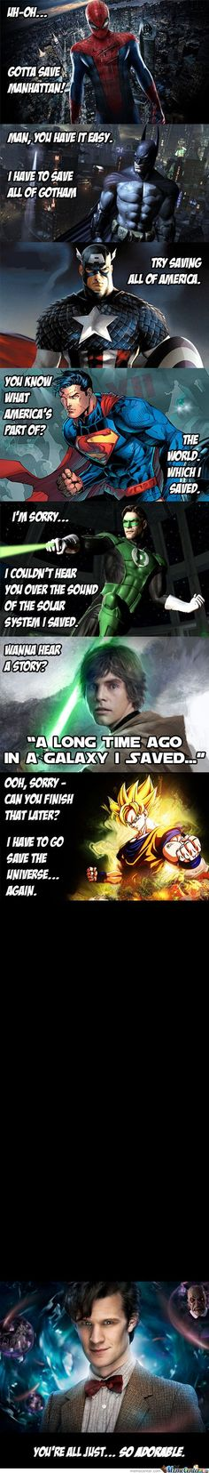 haha, the doctor saved everything, including outside the universe!