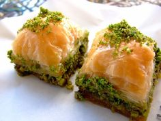 Hhhmm i'm really not into sweets but you can wake me up for this!! (Baklava)