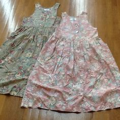 Country at Heart dresses.Pink Size 4,Green Size 6 New without tags.  See you in the flower garden for tea.  Long dresses for your comfort.  Decorative ceramic buttons with different styles on each dress. Pockets on front. These are woman dress not kids. Vintage / country. Dresses