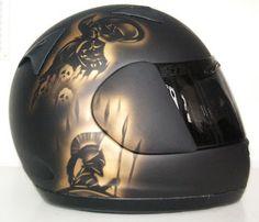 Hand Painted Arai Moto Helmet #108 ~ Helmets4Fun - Spartan 300 Helmet