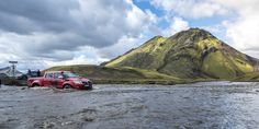 River crossing in Iceland on the Arctic Truck