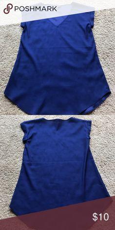 Express satin short sleeved top Express satin short sleeved, rolled sleeve detail Express Tops