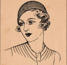 Elegant 1930s hat knitting and crochet patterns pdf