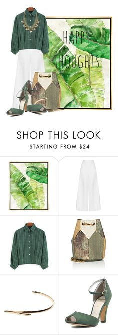 """Happy Thoughts in Green"" by queenrachietemplateaddict ❤ liked on Polyvore featuring Barclay Butera, Miguelina, Jérôme Dreyfuss, Maison Margiela, Chelsea Crew, Emily & Ashley and GREEN"
