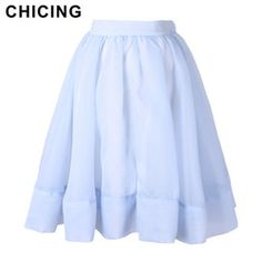 Online Shop CHICING 3 Colors New 2015 Summer Elegant Tulle Fluffy Swing Ball Gown Pleated High Waist Tutu Ladies Tennis Midi Skirt A1505002|Aliexpress Mobile
